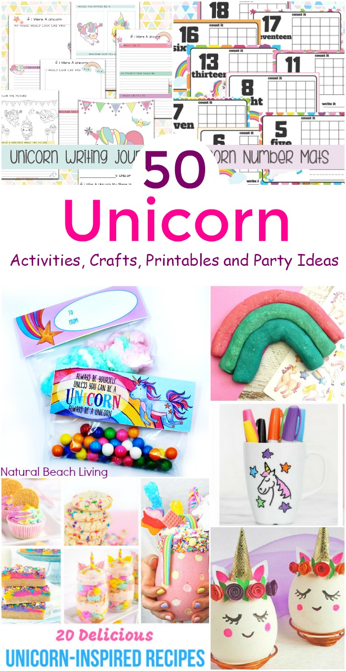 70+ Unicorn Activities, Crafts, Printables and Party Ideas  Natural Beach Living