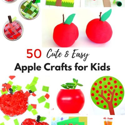 50+ Best Apple Crafts for Kids – Easy and Fun Crafts for Fall