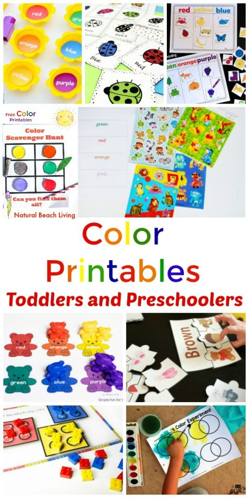 graphic regarding Toddler Learning Activities Printable Free identified as 25+ Preschool Colour Things to do Printables - Studying Shades