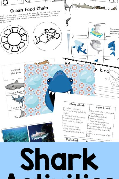 The Best Shark Printable Activities for Kids – Shark Lesson Plans