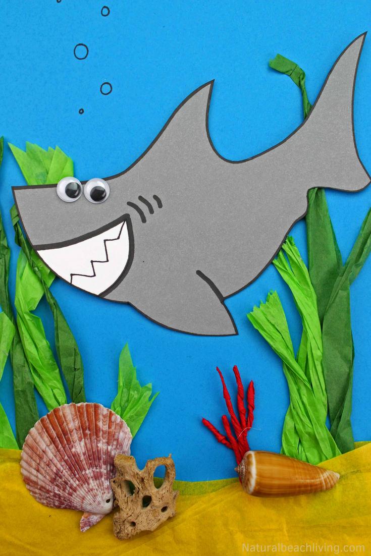 Shark Craft for Preschool and Kindergarten with Free Shark ...