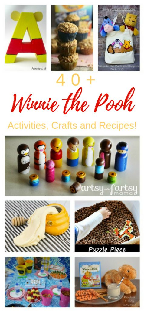 Winnie the Pooh Activities, Crafts, and Recipes for Preschoolers to adults. Winnie the Pooh Themed Food Ideas and recipes with Honey, winnie the pooh activities for preschool, winnie the pooh printable activities, winnie the pooh free printables for Kids