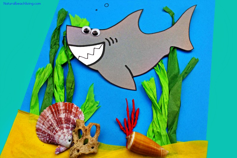 Shark Craft For Preschool And Kindergarten With Free Shark
