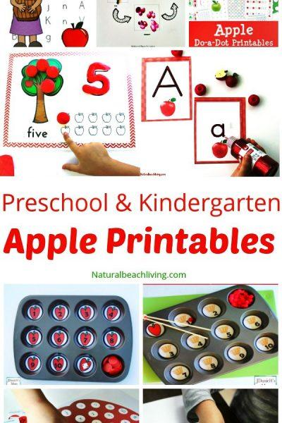 30+ Free Apple Printables for Preschool and Kindergarten