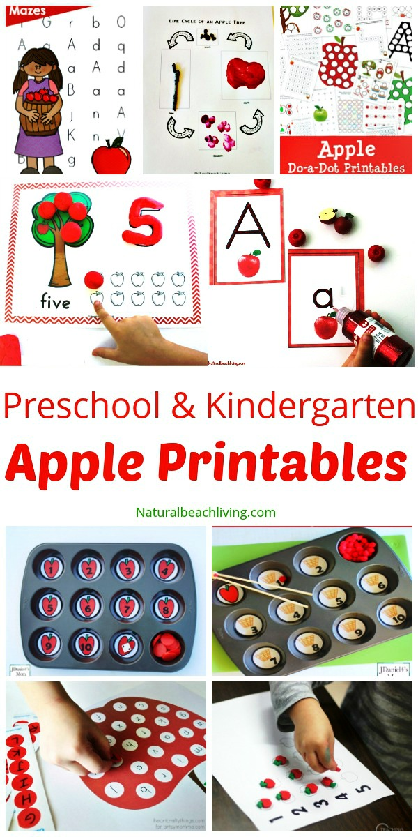 30+ Free Apple Printables For Preschool And Kindergarten - Natural Beach  Living