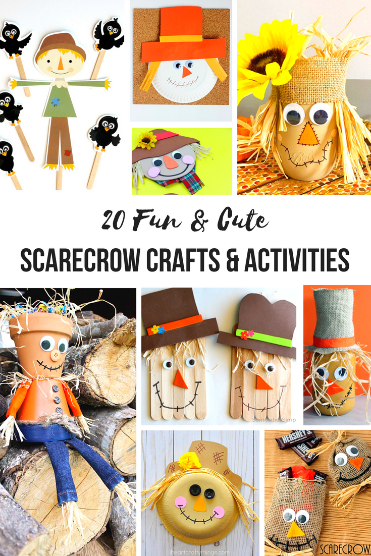20+ Scarecrow Crafts and Activities for Kids, Scarecrow Crafts and Activities are the perfect way to start off your fall season. These scarecrow theme ideas are easy enough for your preschoolers and just as enjoyable for adults. Add Scarecrow activities to your lesson plans about the fall or harvest season.