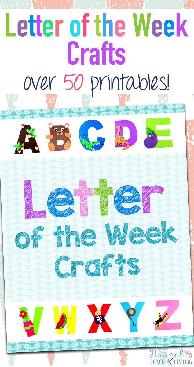 graphic relating to Letter Printables referred to as Letter of the 7 days Crafts with Printables - Alphabet Crafts