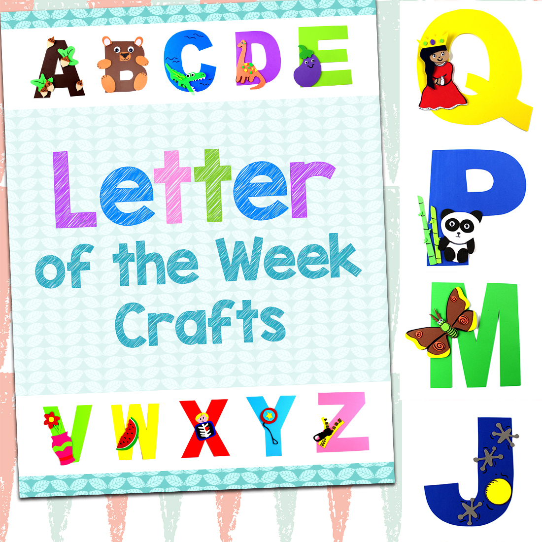 This is a picture of Breathtaking Letter of the Week Printables