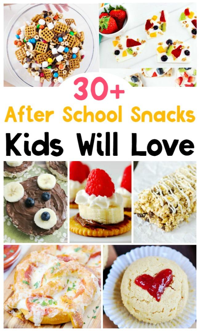 30+ School Snacks for Kids – After School Snack Ideas