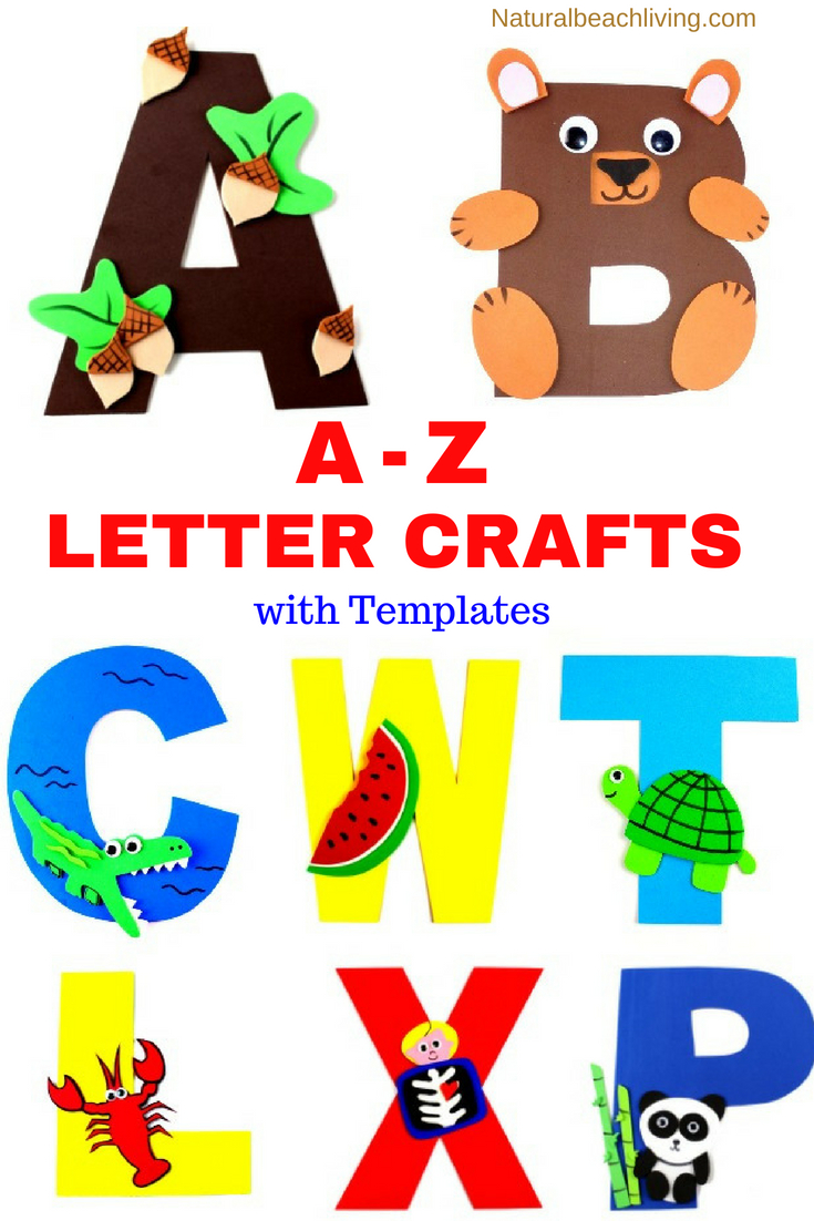 The Best Letter of the Week Crafts for Toddlers, Preschoolers, and Kindergarten, Letter of the Week Crafts is a perfect way to introduce each letter to your child. Over 50 pages of letter of the week printables, A complete Preschool Theme, Create adorable Letters of the Alphabet Crafts with your children as part of their fun hands-on learning activities.