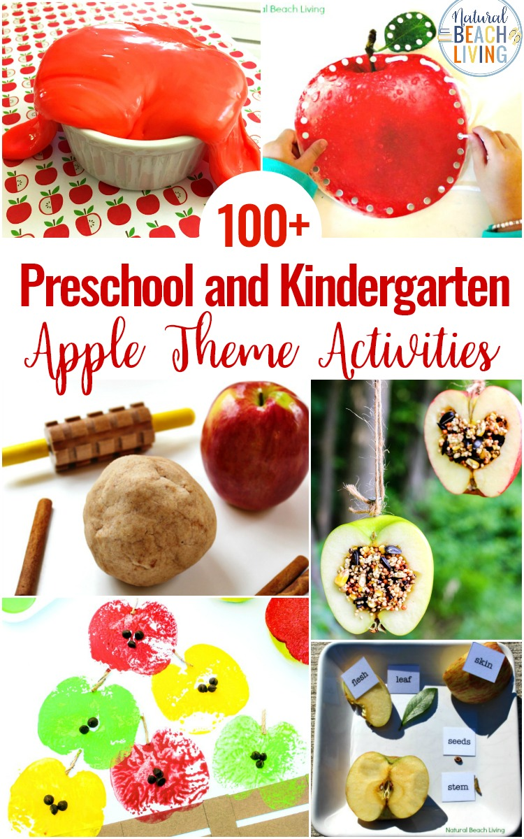Preschool Theme Apple Activities and Lesson Plans, Fall Preschool Themes, Apple Stamping and Preschool Apple Theme Activities for preschool and Kindergarten, Apple Crafts, Apple Science, Preschool Activities for literacy, math, and Apple Slime and Apple Playdough sensory play ideas that are fun and educational. Apple Worksheets, Apple Stamping and more.