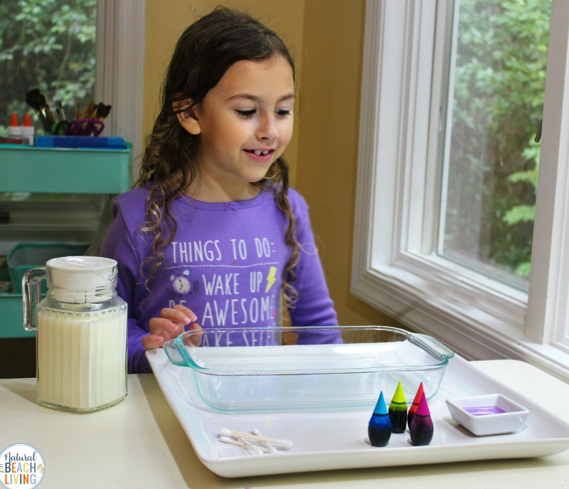 The Magic Milk Science Experiment is a fun and simple experiment for Kids of all ages. It's a great Science idea for preschoolers and Kindergarten as an introduction to learning Chemistry. This color changing milk experiment is guaranteed to become one of your favorite Science activities for preschoolers and kitchen science experiments.