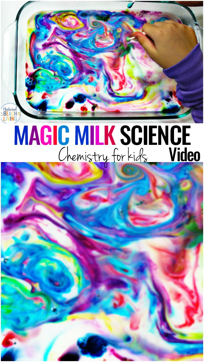 Science for Kids, Magic Milk experiment, preschool and kindergarten science