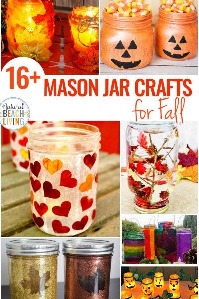 18+ Mason Jar Crafts for Fall