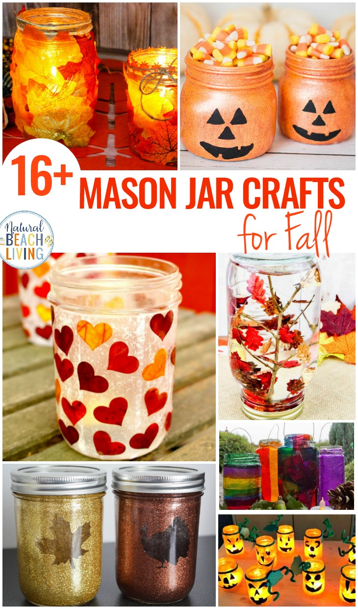 18+ Mason Jar Crafts for Fall, Mason Jar Crafts DIY, Halloween Mason Jar crafts and Mason Jar Crafts for Kids, These Easy Fall Centerpieces and Mason Jar Crafts for Fall are just what your house needs to bring in the season. Add a little mason jar fall decor to your craft list this year.