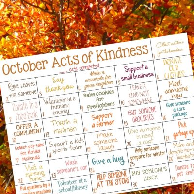 Random Acts of Kindness Calendar for October