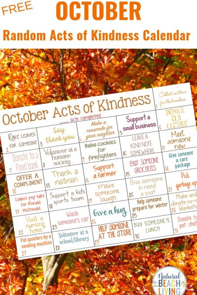 Random Acts of Kindness Calendar for October