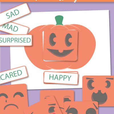Emotions Activities Preschool Pumpkin Theme Printables