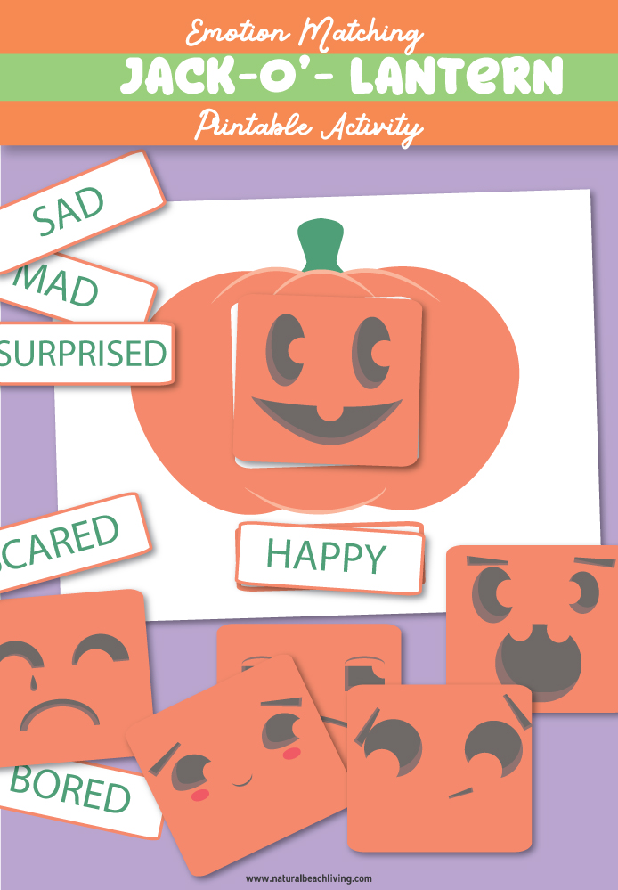 Emotions Activities, Preschool Emotions Printables and Preschool Pumpkin Theme Printables, In this fun Pumpkin activity, you'll be helping kids learn with different faces on a pumpkin. These Emotions Activities Pumpkin Faces are cute, fun, and free printable activities.