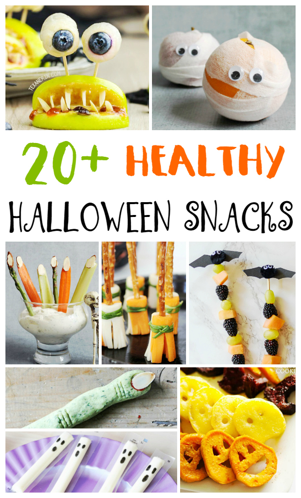 25+ Healthy Halloween Snacks, These Easy and Fun Halloween Snacks are perfect for Halloween party treats, classroom party snacks, or just a fun recipe to help celebrate Halloween. Simple yet tasty Halloween snacks for kids. Kid approved snacks