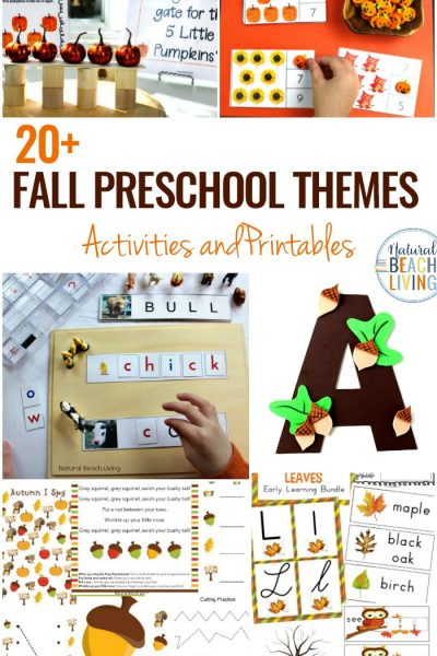 15+ October Preschool Themes with Lesson Plans and Activities