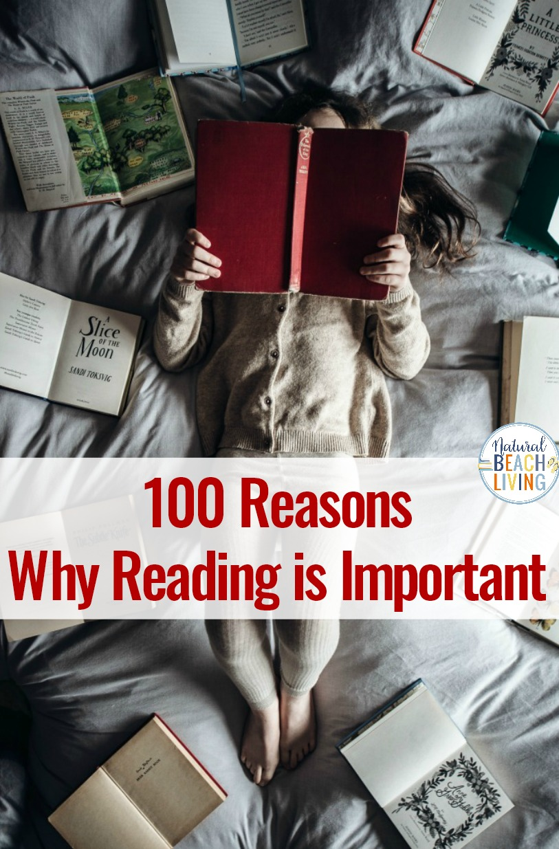 100 Reasons Why Reading is Important, Reading Habit, If you're curious about the importance of reading you'll find out many reasons why it is important to read. Plus, why reading is important for kids, reading challenges, and Great Books to Read