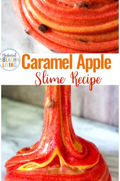 Caramel Apple Slime Recipe with Contact Solution