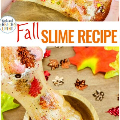 Fall Slime Recipe with Contact Solution