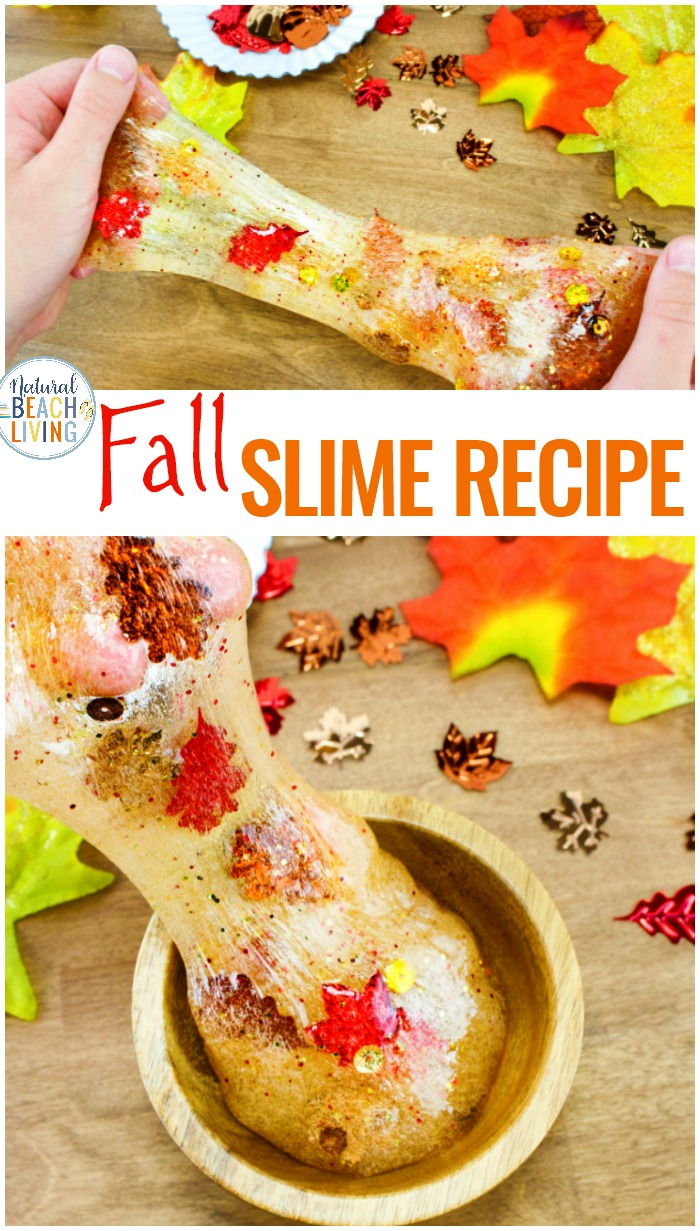 This Fall Slime Recipe with Contact Solution is gorgeous. One of the best Clear Slime Recipes and contact solution slime recipes you'll ever make. Kids love playing with jiggly slime and this super stretchy slime recipe is perfect to make in fall. Slime with Contact Solution, Slime Recipe Contact Solution, Make Contact Solution Clear Slime Recipe today