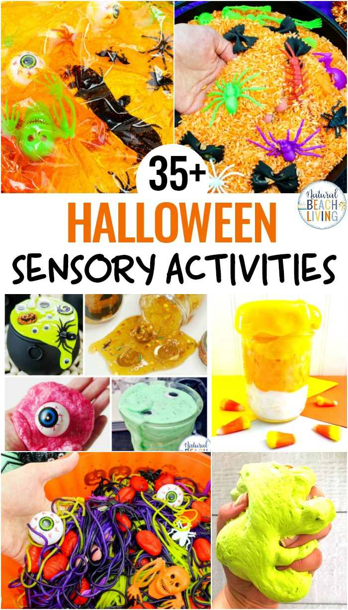 Halloween Sensory Bin Ideas with Colored Spaghetti and Brains, Halloween Sensory Play Activities that are scary, squishy, slimy, gooey fun for kids. Halloween Party Ideas, Play with super creepy Halloween sensory bins, or make it a sensory mystery bin experience