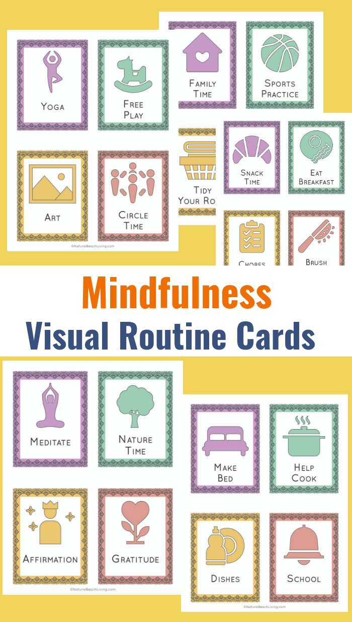 36 Printable Visual Schedule Pictures Mindfulness Routine Cards, The Best Visual Schedule, Printable Routine Cards and Daily Schedule for Kids. If you are finding times in your day that feel chaotic providing a daily schedule for kids will help minimize the frustration.