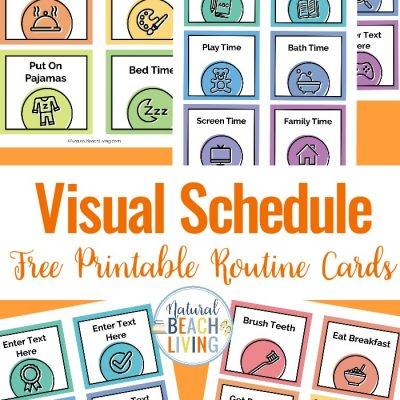 Visual Schedule – Free Printable Routine Cards