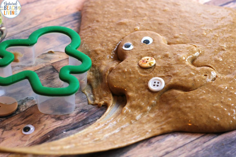 Gingerbread Slime Recipe with Contact Solution, Little hands love the wonderful oozing fluffy slime and the delicious smell of this Gingerbread Slime, Gingerbread Slime with Contact Solution is a perfect Christmas Slime, Best Slime Recipes.