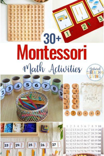 30+ Montessori Math Activities for Preschool and Kindergarten