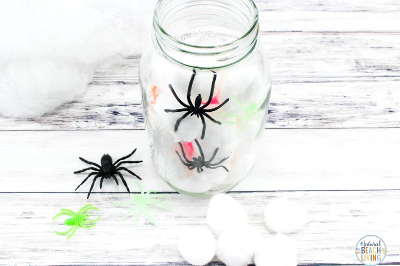 Spooky Spider Jar, Mason Jar Crafts for Halloween, Mason Jar Fall Crafts are easy to make and this Spider Jar is the perfect Mason Jar crafts for Fall, DIY this Spooky Spider Jar for your next Halloween party