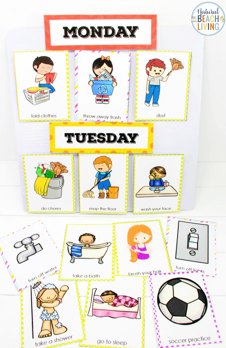 photo about Printable Visual Schedule Pictures called Visible Routine Printable Offer - Simplest Each day Routine for