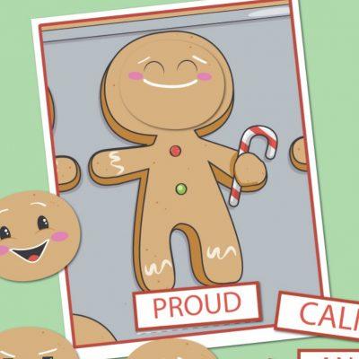 Gingerbread Man Preschool Emotions Printables