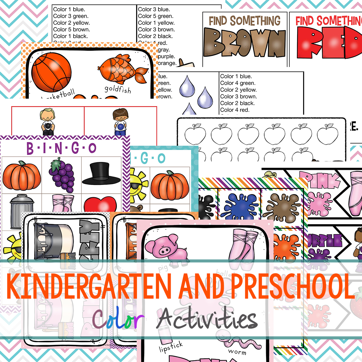 Preschool Color Theme Printables, Lesson Plans and Color theme activities for toddlers, preschool, and kindergarten. These are fun, hands-on activities, and ideas for teaching children how to recognize colors at home or in the classroom. Teaching Colors