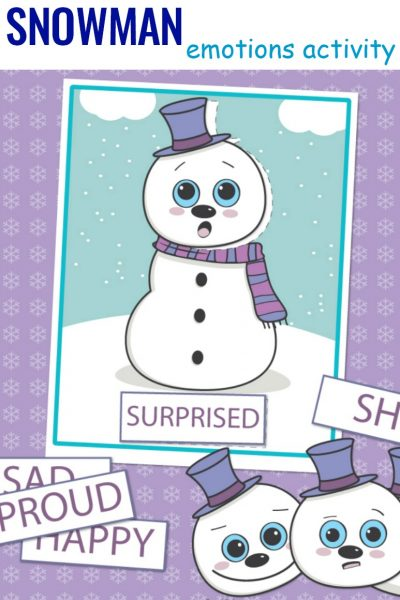 Preschool Emotions Printables Snowman Activities