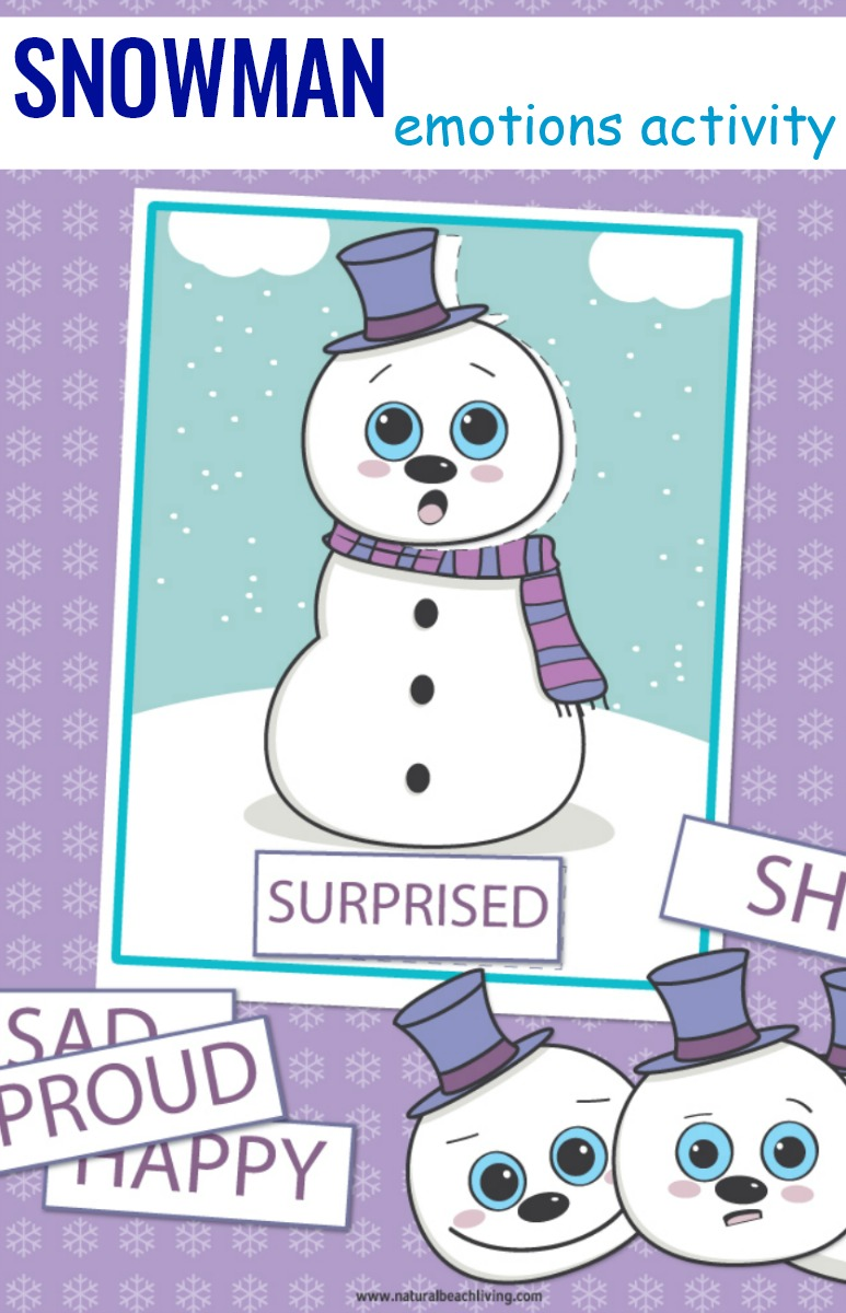 Preschool Emotions Printables Snowman Activities, Emotions Activities Preschool Snowman Theme Printables, In this fun Snowman activity you'll be teaching feelings and emotions with games, hands on activities and visual cards, emotion cards, emotion cards printables, free printable emotion cards winter activity