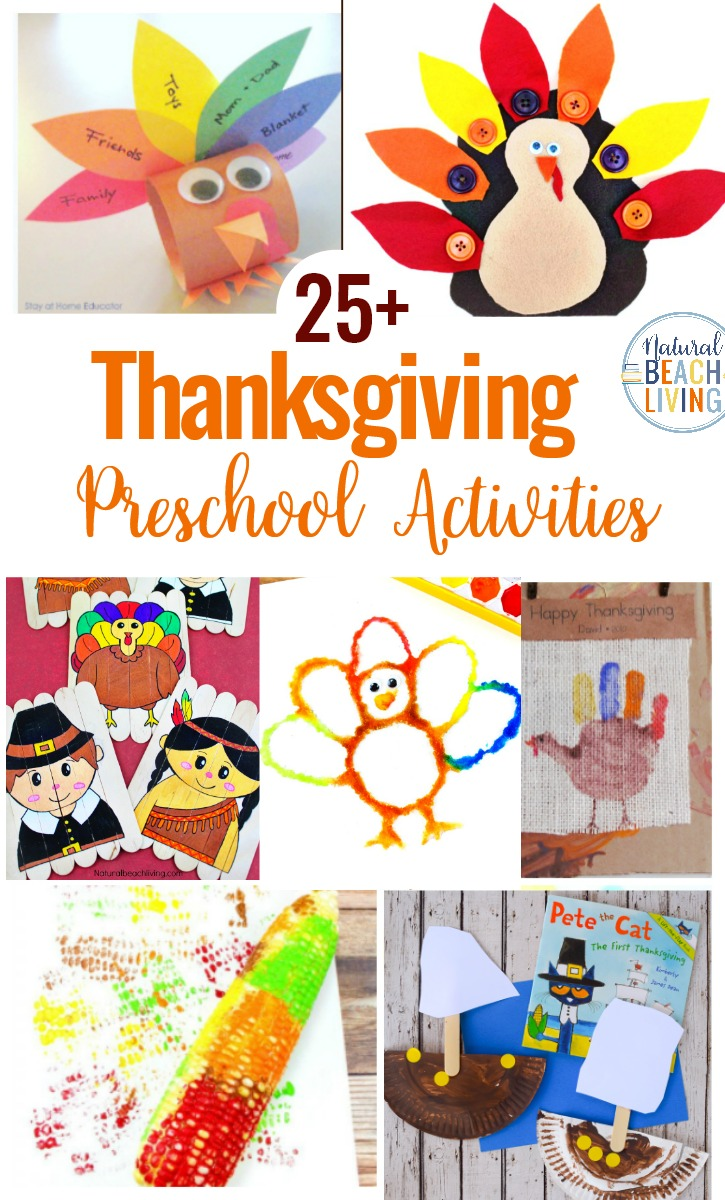 25 Preschool Thanksgiving Activities And Crafts Natural