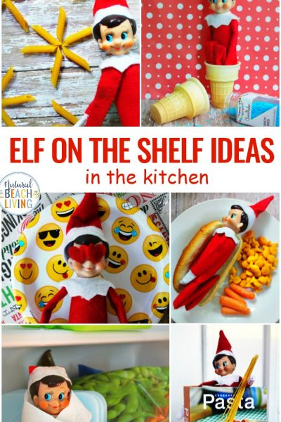 Elf on the Shelf Ideas for the Kitchen
