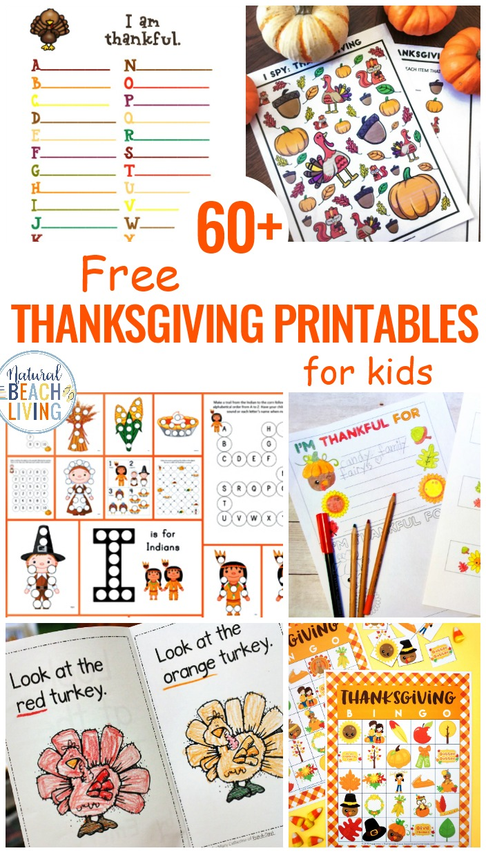 60 Free Thanksgiving Printables For Kids Natural Beach Living