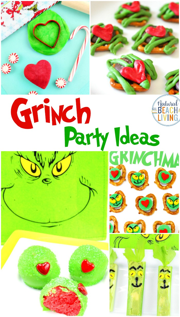 Healthy Grinch Snacks, Grinch Party Ideas, Grinch Christmas Treats, Grinch Activities and Grinch Party food or an afternoon snack for the kids. Munching on Grinch Celery Snacks is a delicious, healthy treat everyone can eat.