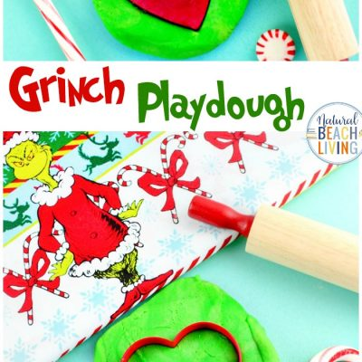 Grinch Playdough – Christmas Sensory Dough Recipe