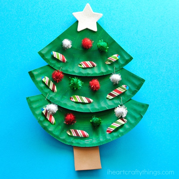 Crafts For Christmas.21 Paper Plate Crafts For Christmas Natural Beach Living