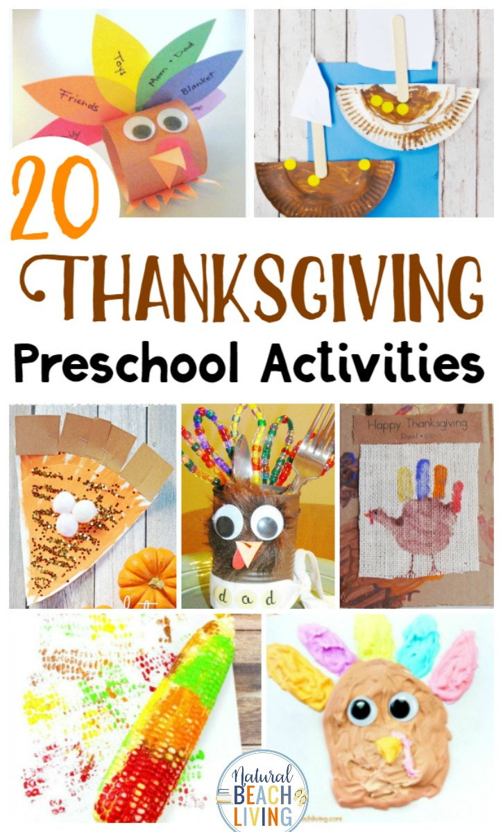 25+ Preschool Thanksgiving Activities and Thanksgiving Preschool Theme Ideas. Add any of these fun literacy activities, Turkey Crafts, Thanksgiving arts and crafts, Thankful activities, Thanksgiving Printables, Thanksgiving Books, and more to complete your Thanksgiving preschool activities at home or in a classroom, Perfect for preschoolers and kindergarten