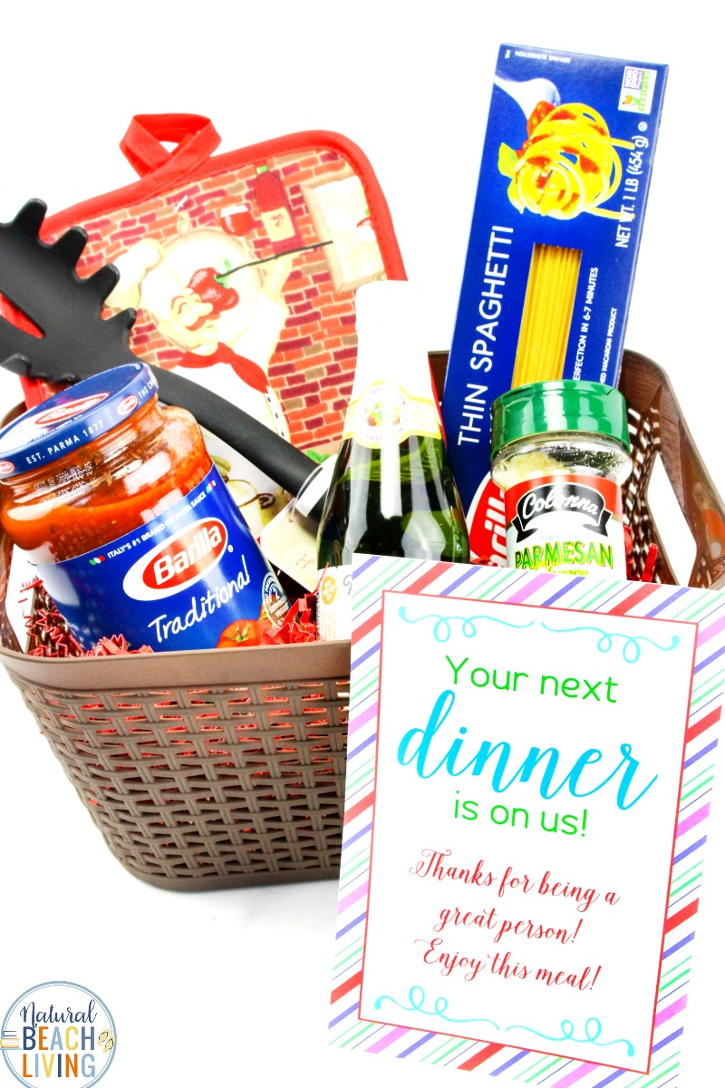 Random Acts of Kindness Dinner Basket, Show someone you care by surprising them with a Random Acts of Kindness Meal for an act of kindness. Free Random Acts of Kindness Printables and Random Acts of Kindness Ideas for you to share acts of kindness around your community