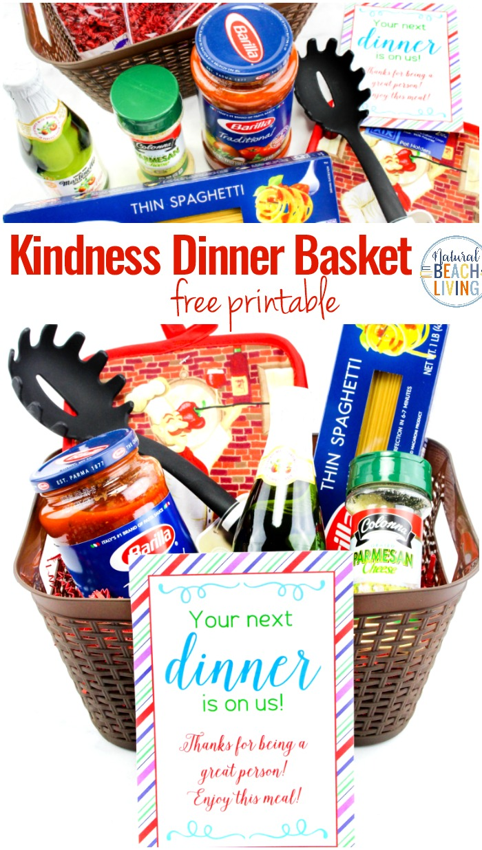 Random Acts of Kindness Dinner Basket, Show someone you care by surprising them with a Random Acts of Kindness Meal for a simple act of kindness. Free Random Acts of Kindness Printables and Random Acts of Kindness Ideas for you to fight hunger and share acts of kindness around your community