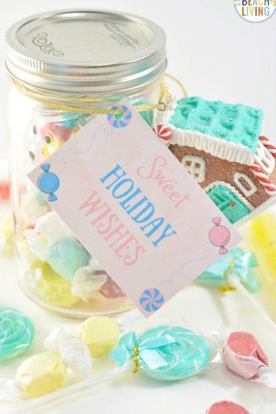 Christmas Mason Jar Gift Idea for Sweet Treats
